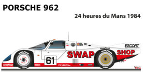 Porsche 962 n.61 did not finish in the 24 Hours of Le Mans 1984