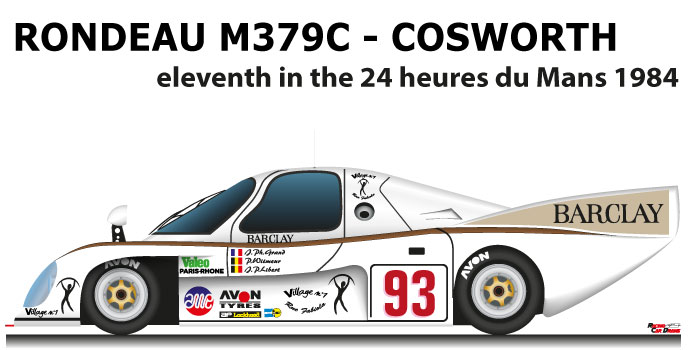 Rondeau M379C - Cosworth n.93 eleventh in the 24 Hours of Le Mans 1984