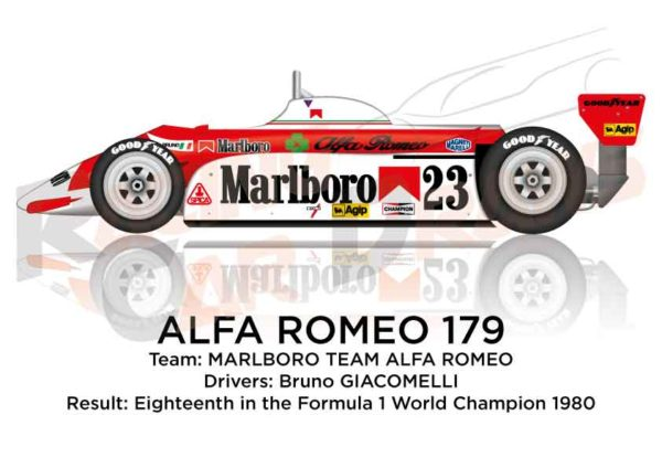 Alfa Romeo 179 eighteenth in the Formula 1 World Champion 1980