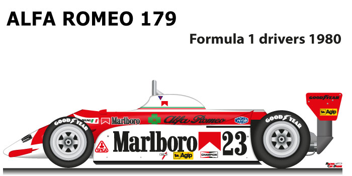 Alfa Romeo 179 eighteenth in the Formula 1 World Champion 1980
