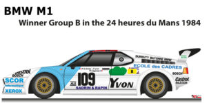 BMW M1 n.109 Fourteenth in the 24 hours of Le Mans 1984