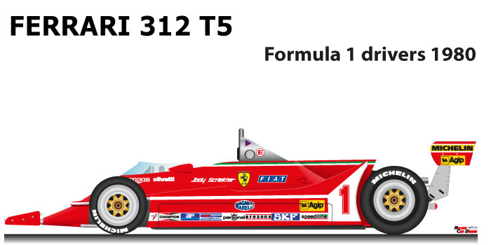 Ferrari 312 T5 n.1 Formula 1 World Champion 1980