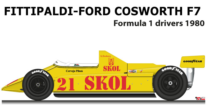 Fittipaldi - Ford Cosworth F7 n.21 tenth in the Formula 1 World Champion 1980