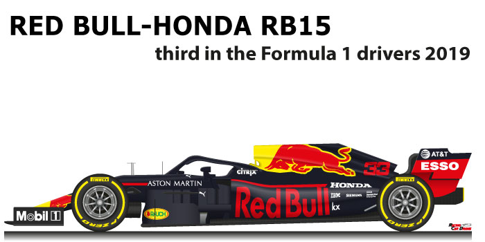 Red Bull - Honda RB15 n.33 third in the Formula 1 World Champion 2019