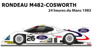 Rondeau M482 - Cosworth n.26 did not finish in the 24 Hours of Le Mans 1983