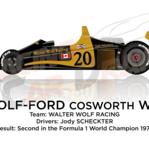 Wolf - Ford Cosworth WR1 n.20 second Formula 1 World Champion 1977