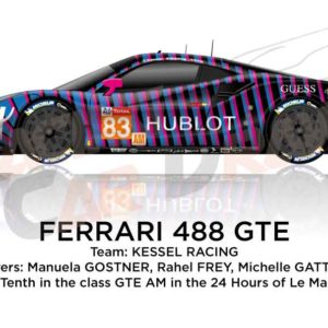 Ferrari 488 GTE n.83 fortieth in the 24 Hours of Le Mans 2019