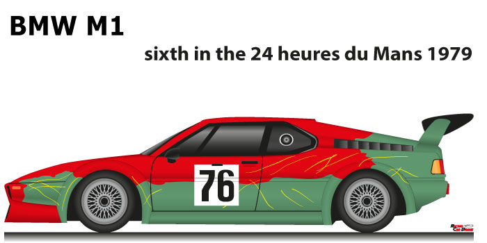 BMW M1 n.76 sixth in the 24 hours of Le Mans 1979