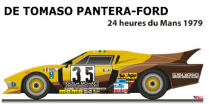 De Tomaso Pantera - Ford n.35 not classified in the 24 Hours of Le Mans 1979