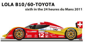Lola B10/60 - Toyota n.12 sixth in the 24 Hours of Le Mans 2011