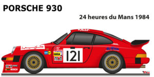 Porsche 930 n.131 did not finish in the 24 hours of Le Mans 1984