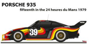 Porsche 935 n.39 fifteenth in the 24 hours of Le Mans 1979