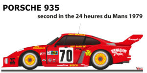 Porsche 935 n.70 second in the 24 Hours of le Mans 1979