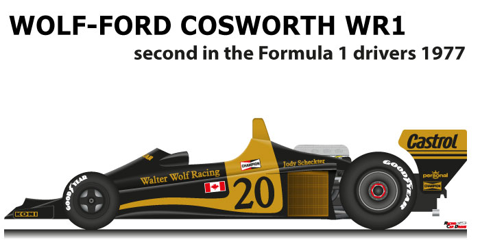 Wolf - Ford Cosworth WR1 n.20 second in the Formula 1 World Champion 1977