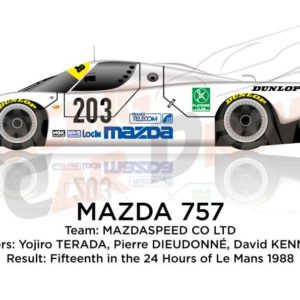 Image Mazda 757 n.203 fifteenth in the 24 hours of Le Mans 1988