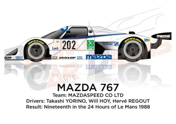Image Mazda 767 n.202 nineteenth in the 24 hours of Le Mans 1988