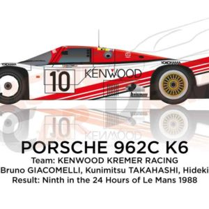 Image Porsche 962C K6 n.10 ninth in the 24 hours of Le Mans 1988