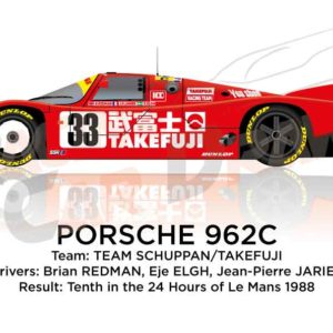 Image Porsche 962C n.33 tenth in the 24 Hours of Le Mans 1988