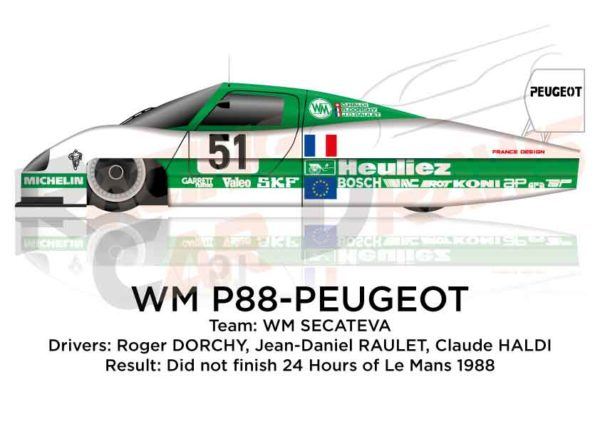 Image WM P88 - Peugeot n.51 Did not finish in the 24 hours of Le Mans 1988