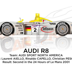 Audi R8 n.2 second in the 24 hours of Le Mans 2001