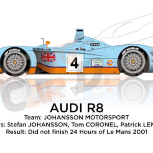 Audi R8 n.4 did not finish in the 24 hours of Le Mans 2001
