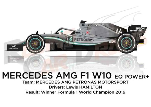 Image Mercedes F1 W10 n.44 winner Formula 1 World Champion 2019