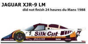 Jaguar XJR-9 LM n.1 did not finish 24 Hours of Le Mans 1988