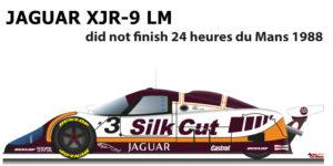 Jaguar XJR-9 LM n.3 did not finish 24 Hours of Le Mans 1988
