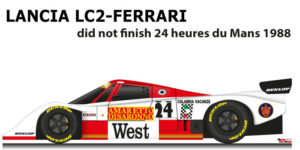 Lancia LC2 - Ferrari n.24 did not finish in the 24 Hours of Le Mans 1988