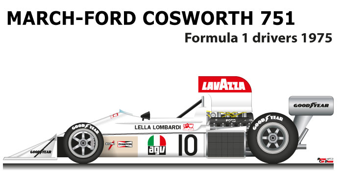 March - Ford Cosworth 751 n.10 twenty-first in the Formula 1 World Champion 1975