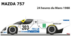Mazda 757 n.203 fifteenth in the 24 Hours of Le Mans 1988