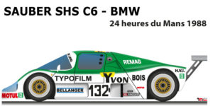 Sauber SHS C6 - BMW n.132 did not finish 24 Hours of Le Mans 1988