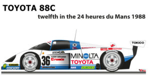 Toyota 88C n.36 twelfth in the 24 hours of Le Mans 1988