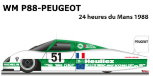 WM P88 - Peugeot n.51 Did not finish in the 24 hours of Le Mans 1988
