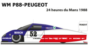 WM P88 - Peugeot n.52 Did not finish in the 24 hours of Le Mans 1988