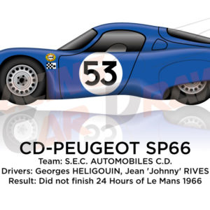 CD - Peugeot SP66 n.53 did not finish 24 hours of Le Mans 1966