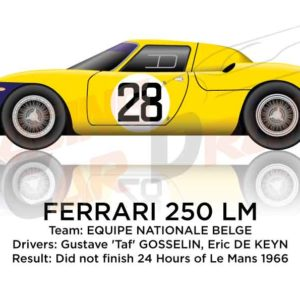 Ferrari 250 LM n.28 did not finish 24 Hours of Le Mans 1966