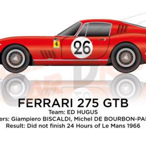 Ferrari 275 GTB n.26 did not finish 24 Hours of Le Mans 1966