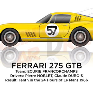 Ferrari 275 GTB n.57 tenth in the 24 Hours of Le Mans 1966