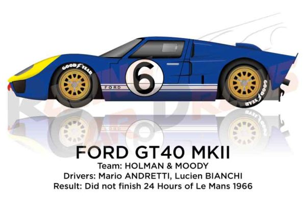 Ford GT40 MK II n.6 did not finish 24 Hours of Le Mans 1966