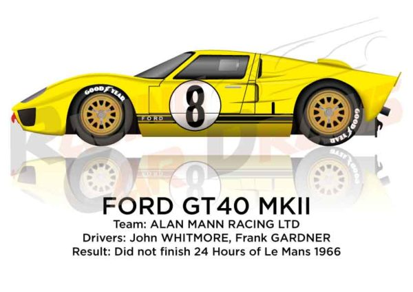 Ford GT40 MK II n.8 did not finish 24 Hours of Le Mans 1966
