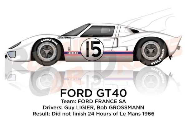 Ford GT40 n.15 did not finish 24 Hours of Le Mans 1966
