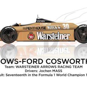 Arrows - Ford Cosworth A3 n.30 seventeenth Formula 1 World Champion 1980