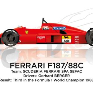 Ferrari F187/88C n.28 third in the Formula 1 World Champion 1988