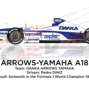 Image Arrows - Yamaha A18 n.2 sixteenth in the Formula 1 World Champion 1997