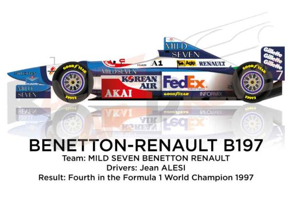 Image Benetton - Renault B197 n.7 fourth in the Formula 1 World Champion 1997