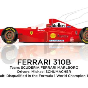 Image Ferrari 310B n.5 disqualified in the Formula 1 World Champion 1997
