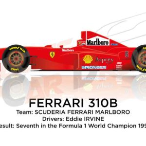 Image Ferrari 310B n.6 seventh in the Formula 1 World Champion 1997