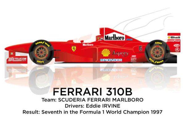 Image Ferrari 310B n.6 seventh in the Formula 1 World Champion 1997