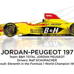 Image Jordan - Peugeot 197 n.11 eleventh in the Formula 1 World Champion 1997